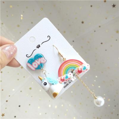 Kawaii Cute Unicorn Rainbow Earring