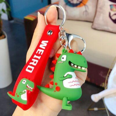 Kawaii Dinosaur Keychain Cute Keyring
