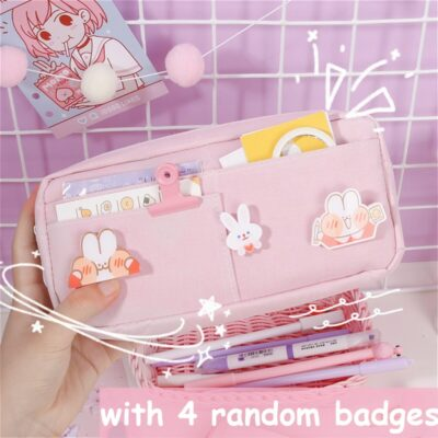 Kawaii Large Pencil Case Stationery Supplies