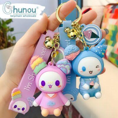 Kawaii Doll Keychain Cute Keyring