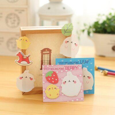 Kawaii Molang Rabbit Sticky Notes Bookmark Stationery Supplies