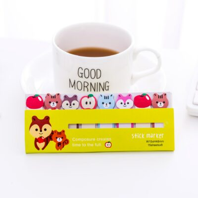 Kawaii Sticky Notes Memo Pad Cute Bookmarks Stationery