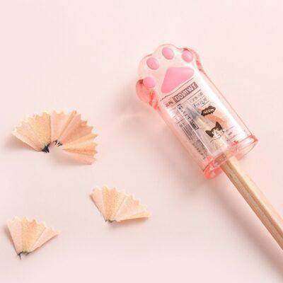 Kawaii Cute Cat Paw Pencil Sharpener Stationery Supplies