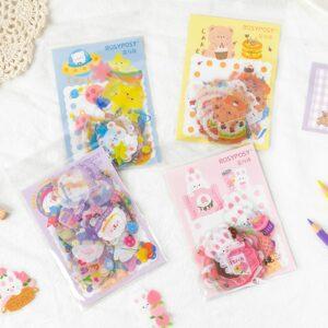 Kawaii Cute Rabbit Bear 40 pcs/lot Stickers Stationery