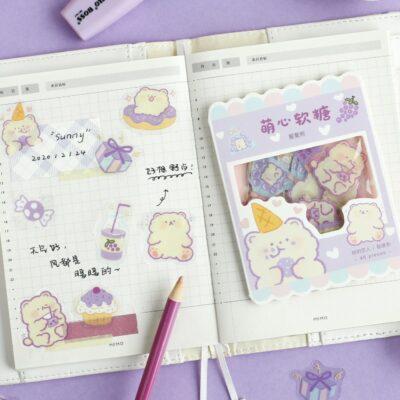 Kawaii Cute Sticker 45pcs Stationery