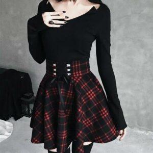 High Waist Pleated Harajuku Skirt