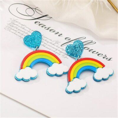 Kawaii Cloud Rainbow Earring