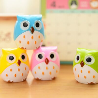Kawaii Owl Pencil Sharpener Stationery Cute School Supplies