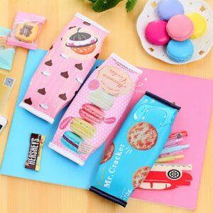 Kawaii Chocolate Cracker Pencil Case Stationery Supplies