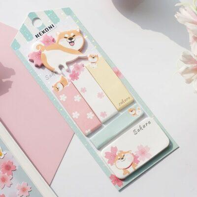 Kawaii Shiba Dog Sticky Notes Stationery