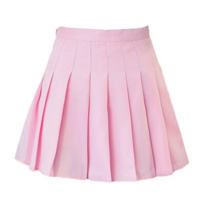 Kawaii High-Waist Pleated Mini Skirts