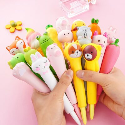 Kawaii Animals Pressure Relief Squeeze Cute Pen Stationery Supplies