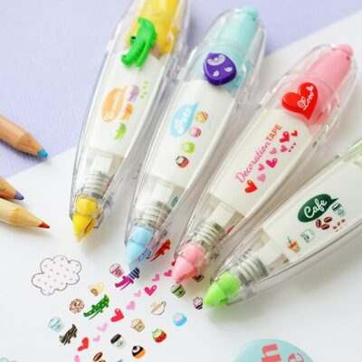Kawaii Cute Animals White Out Correction Tape Stationery Supplies
