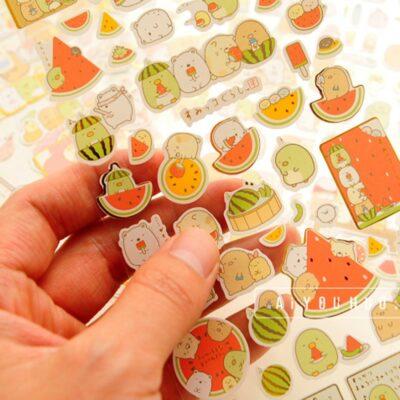Kawaii Animal Stationery Sticker