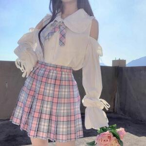 Off Shoulder Lolita Style Kawaii Blouse Top