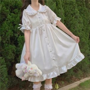 Kawaii Lolita Cute Ruffle Puff Dress