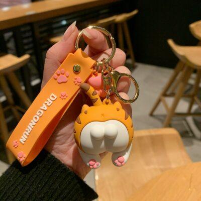 Kawaii Cute Cat Butt Keychain