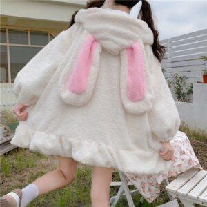Cute Bunny Ear Hoodie Kawaii Harajuku Sweatshirt