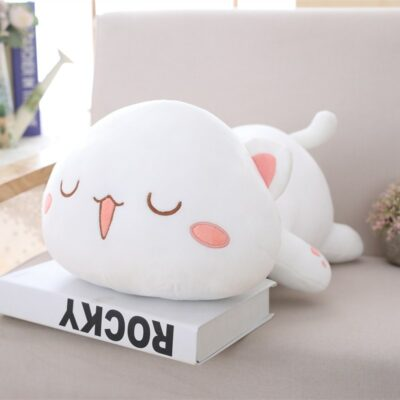 Kawaii Cat Plush Cute White Grey Stuffed Animals