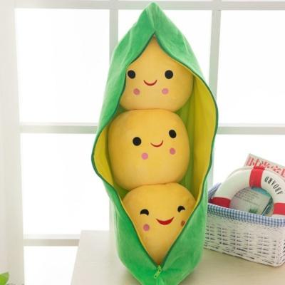 Kawaii Cute Pea Plush Stuffed Toy Pea-shaped Pillow