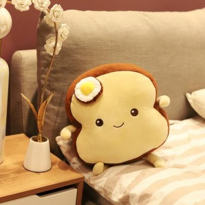 Kawaii Fried Egg Plush Soft Stuffed Bread Food Pillow