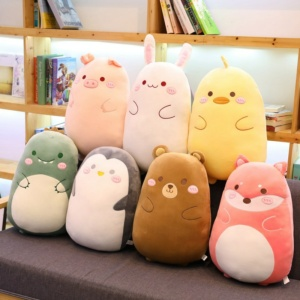 Kawaii Animal Dinosaur Rabbit Pig Bear Duck Plush Toys Stuffed Soft Pillow
