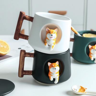 Kawaii Mug Ceramic Kawaii Shiba Mugs Cute Cup