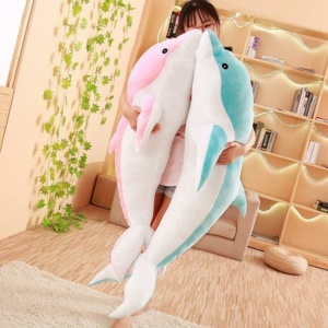 Kawaii Plushies Aqua & Pink The Dolphins Cute Stuffed Animals