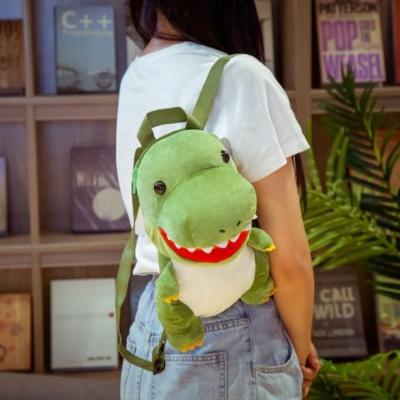 Kawaii Dino Backpack Green Blue Baby Dinos Cute Bag