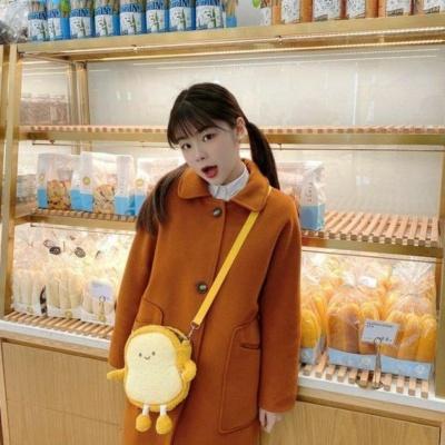 Kawaii Bread Bestie Backpack Cute Foodie Yellow Bag