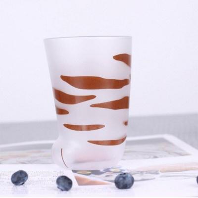 Kawaii Mug Cat Paw Shape Glass   NEW Cute Cup