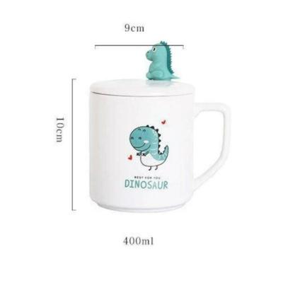 Kawaii Mug Ceramic Little Horn Dinosaur Mugs | NEW Cute Cup