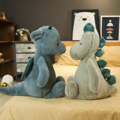 Kawaii Plushies Chive and Chico the Dinosaur and Dragon Duo Cute Stuffed Animals