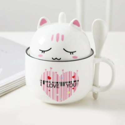 Kawaii Mug Cute Cartoon Ceramic Cat Mugs | NEW Cute Cup