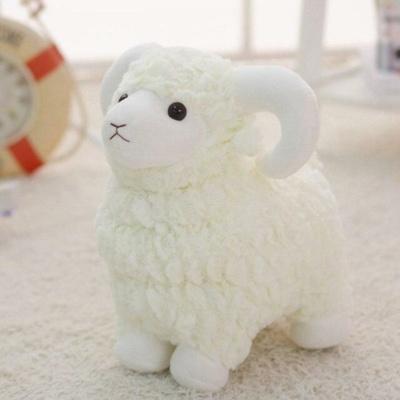 Kawaii Plushies Long Horn Ram Plushie Cute Stuffed Animals