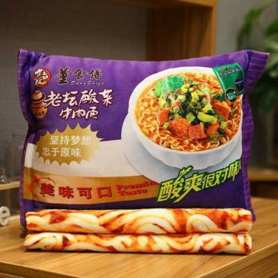 Kawaii Plushies Instant Noodle Plushie Pillow Cute Stuffed Animals
