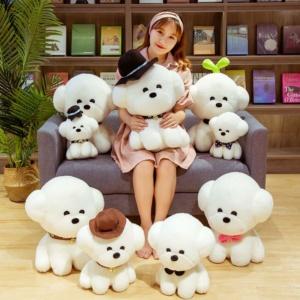 Kawaii Plushies Bella and Charlie Bichon Frise Companion Cute Stuffed Animals