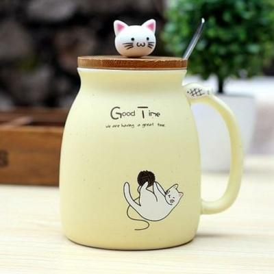 Kawaii Mug Kawaii Ceramic Cat Teacup   NEW Cute Cup