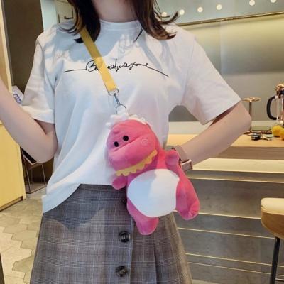 Kawaii Dino Backpack Cute Green Pink Bag