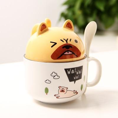 Kawaii Mug Kawaii Dog Breakfast Cup Cute Cup