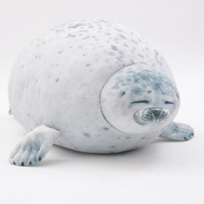 Kawaii Plushies Lazy Chubby Seal Cute Stuffed Animals