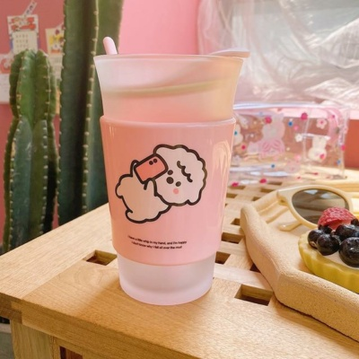 Kawaii Mug Little Sheep Frosted Cup 400ML Cute Cup