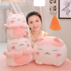 Kawaii Plushies Lucky Sakura Kitty Cute Stuffed Animals