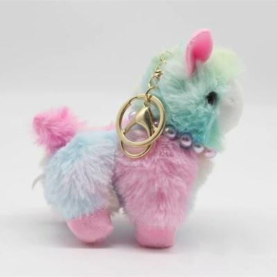 Kawaii Sheep Keychain Squishy Alpaca llama Charm
