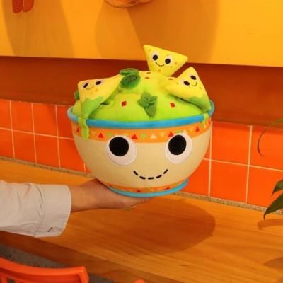 Kawaii Plushies My Salad Bowl with Tortilla Chips Cute Stuffed Animals