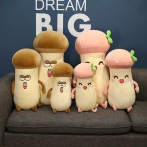 Kawaii Plushies Pleurotus Mushroom Plush Cute Stuffed Animals