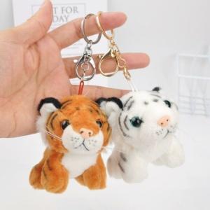 Kawaii Tiger Keychain Animal Soft Plush Charm