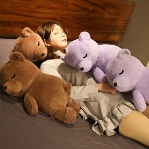 Kawaii Plushies Sleeping Bear Cute Stuffed Animals