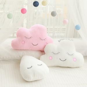 Kawaii Eyes Cloud Pillow Soft Pastel Cushions