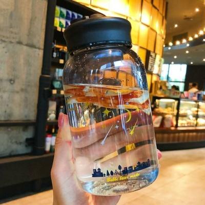 Kawaii Mug Starry Night Water Bottle Cute Cup